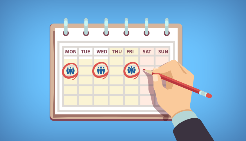 Scheduling team standup meetings throughout the week was essential for executing and follow-through.