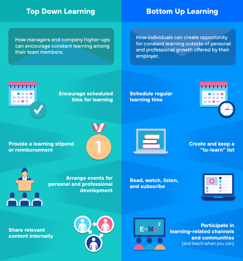 Top-Down Learning vs Bottom-Up Learning