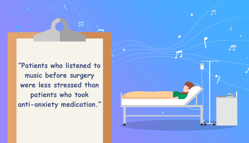 Listening to music can lower stress and anxiety