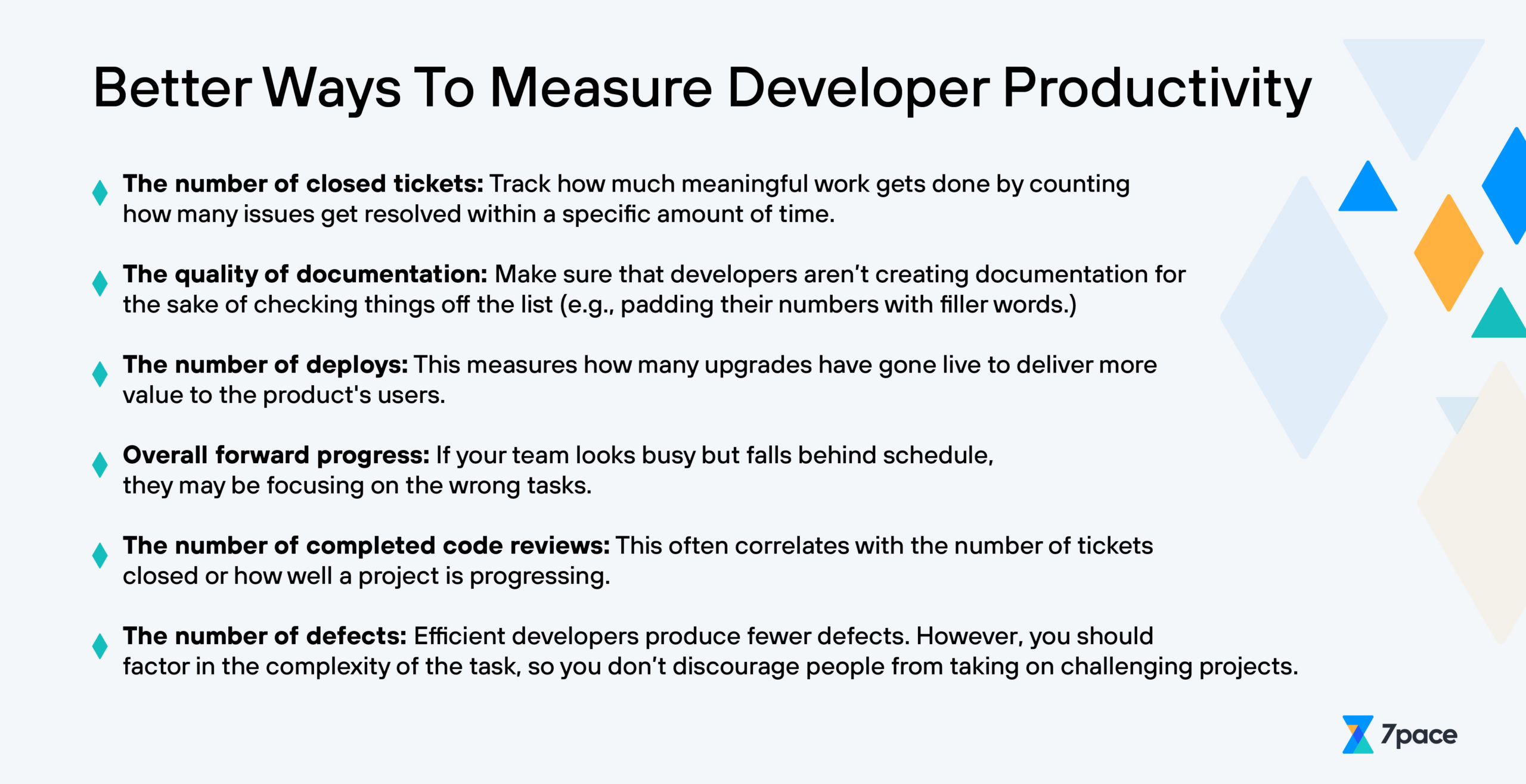 better ways to measure developer productivity